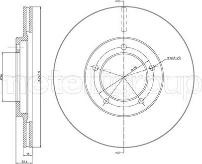 Fri.Tech. BD0935 - Bremžu diski interparts.lv