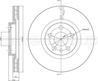 Fri.Tech. BD0490 - Bremžu diski interparts.lv