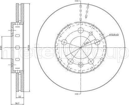 Fri.Tech. BD0467 - Bremžu diski interparts.lv