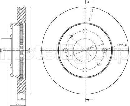 Fri.Tech. BD0410 - Bremžu diski interparts.lv
