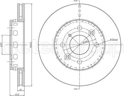 Fri.Tech. BD0412 - Bremžu diski interparts.lv