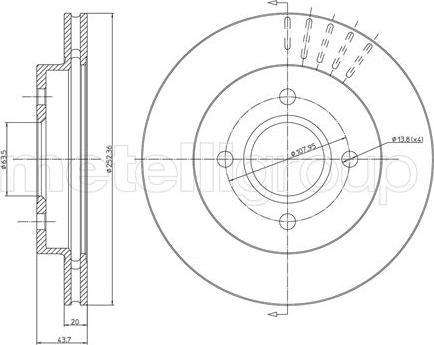 Fri.Tech. BD0422 - Bremžu diski interparts.lv