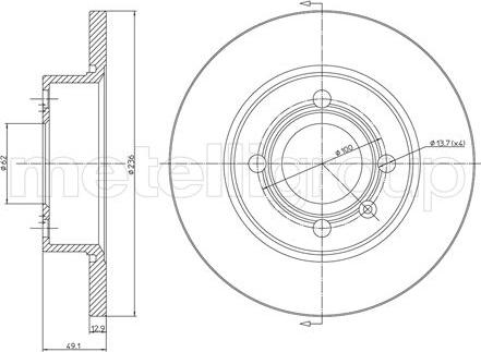 Fri.Tech. BD0584 - Bremžu diski interparts.lv