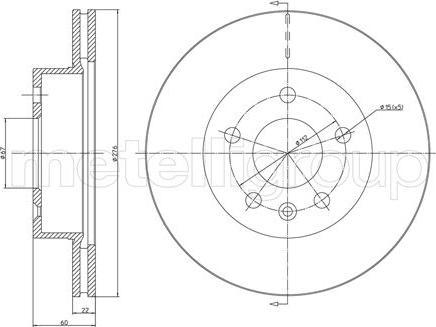 Fri.Tech. BD0522 - Bremžu diski interparts.lv