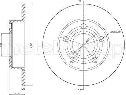 Fri.Tech. BD0641 - Bremžu diski interparts.lv