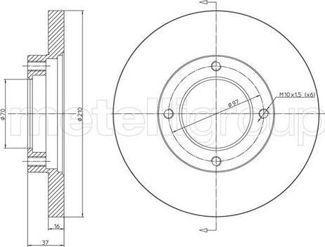 Fri.Tech. BD0657 - Bremžu diski interparts.lv