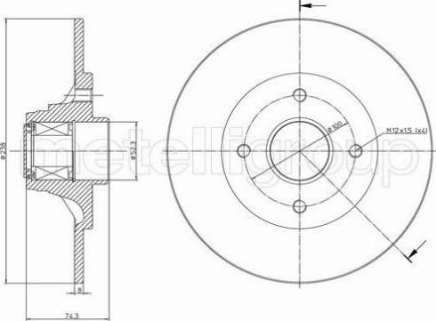Fri.Tech. BD0688 - Bremžu diski interparts.lv