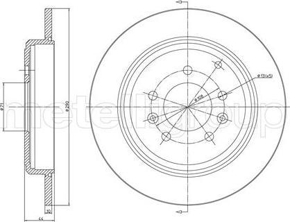 Fri.Tech. BD0639 - Bremžu diski interparts.lv