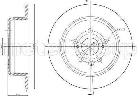 Fri.Tech. BD0091 - Bremžu diski interparts.lv