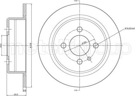 Fri.Tech. BD0093 - Bremžu diski interparts.lv
