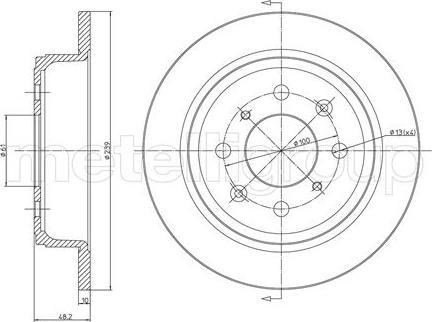 Fri.Tech. BD0051 - Bremžu diski interparts.lv