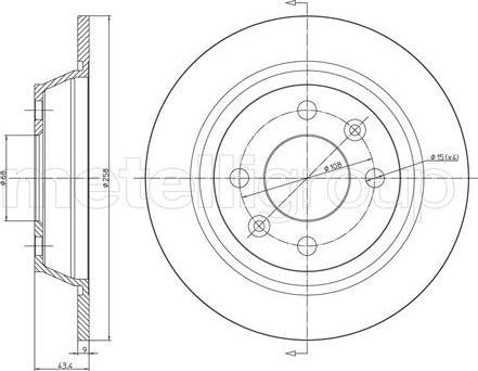 Fri.Tech. BD0057 - Bremžu diski interparts.lv