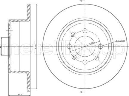 Fri.Tech. BD0190 - Bremžu diski interparts.lv