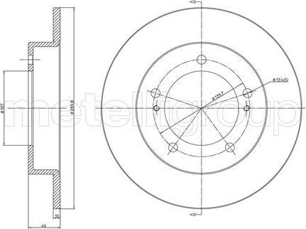 Fri.Tech. BD0144 - Bremžu diski interparts.lv