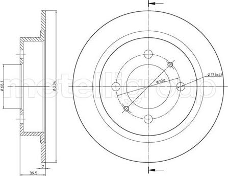 Fri.Tech. BD0112 - Bremžu diski interparts.lv
