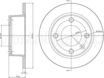 Fri.Tech. BD0183 - Bremžu diski interparts.lv