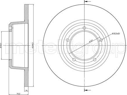 Fri.Tech. BD0122 - Bremžu diski interparts.lv