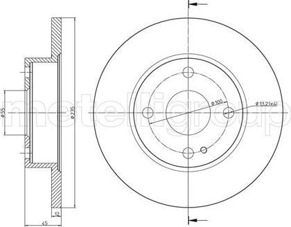 Fri.Tech. BD0844 - Bremžu diski interparts.lv