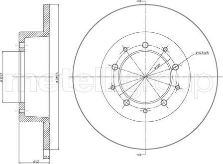 Fri.Tech. BD0843 - Bremžu diski interparts.lv