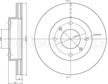 Fri.Tech. BD0350 - Bremžu diski interparts.lv