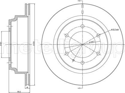 Fri.Tech. BD0360 - Bremžu diski interparts.lv