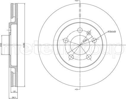 Fri.Tech. BD0307 - Bremžu diski interparts.lv