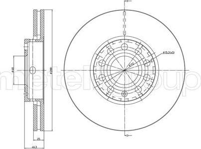 Fri.Tech. BD0312 - Bremžu diski interparts.lv