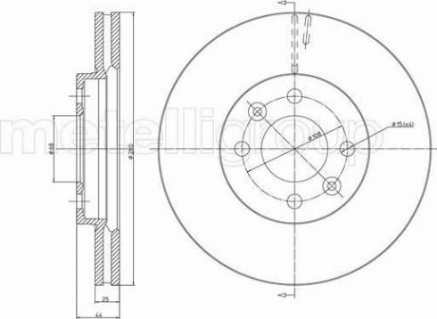 Fri.Tech. BD0373 - Bremžu diski interparts.lv