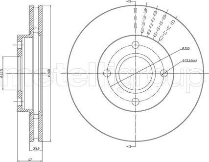 Fri.Tech. BD0255 - Bremžu diski interparts.lv