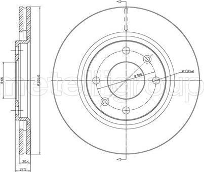 Fri.Tech. BD0257 - Bremžu diski interparts.lv