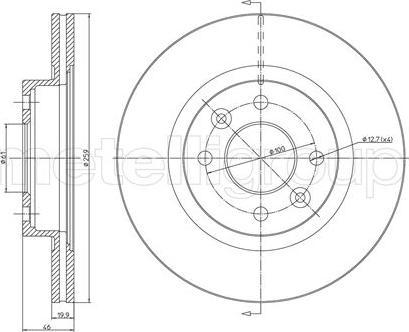 Fri.Tech. BD0262 - Bremžu diski interparts.lv