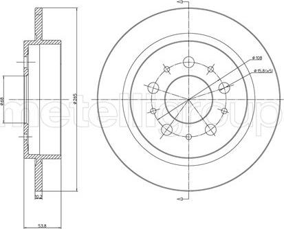 Fri.Tech. BD0207 - Bremžu diski interparts.lv