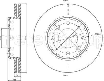 Fri.Tech. BD0799 - Bremžu diski interparts.lv