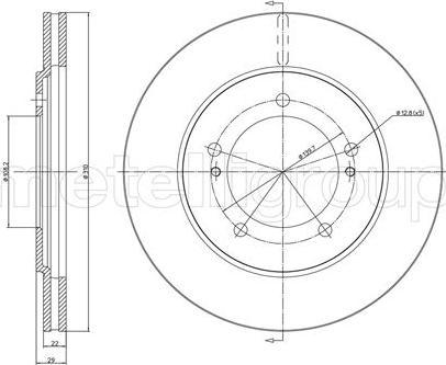 Fri.Tech. BD0795 - Bremžu diski interparts.lv