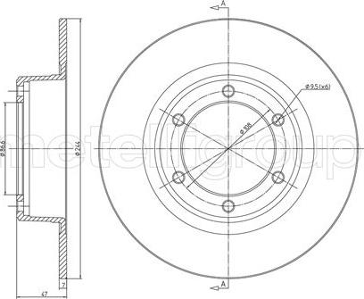 Fri.Tech. BD1559 - Bremžu diski interparts.lv