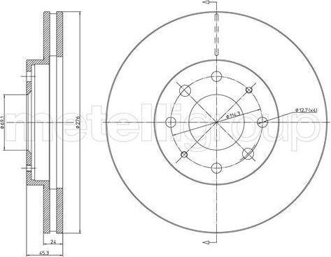 Fri.Tech. BD1170 - Bremžu diski interparts.lv