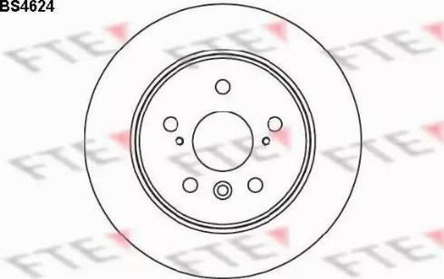 FTE BS4624 - Bremžu diski interparts.lv