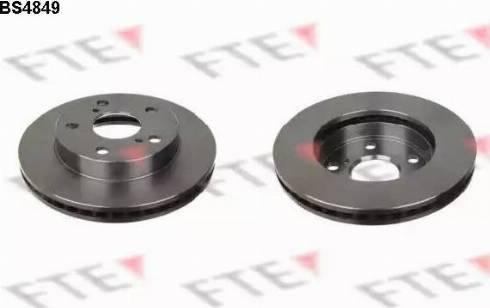 FTE BS4849 - Bremžu diski interparts.lv