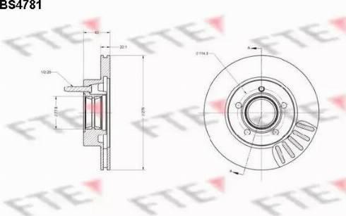 FTE BS4781 - Bremžu diski interparts.lv