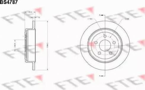 FTE BS4787 - Bremžu diski interparts.lv