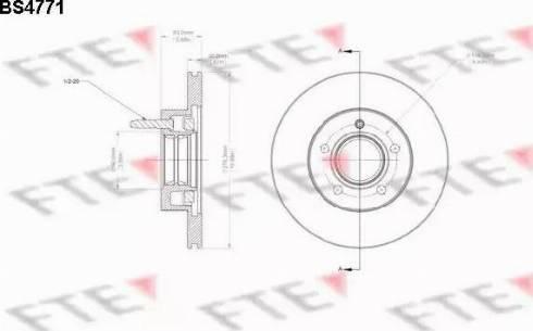 FTE BS4771 - Bremžu diski interparts.lv