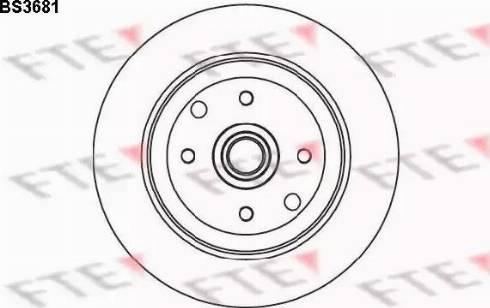 FTE BS3681 - Bremžu diski interparts.lv