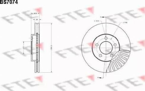 FTE BS7074 - Bremžu diski interparts.lv