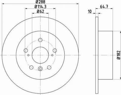 HELLA 8DD 355 109-051 - Bremžu diski interparts.lv