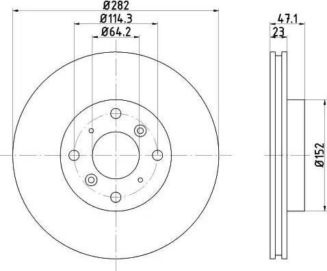 HELLA 8DD 355 104-991 - Bremžu diski interparts.lv