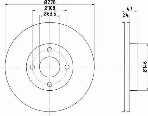 HELLA 8DD 355 104-641 - Bremžu diski interparts.lv