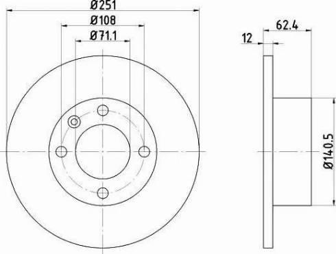 HELLA 8DD 355 104-831 - Bremžu diski interparts.lv