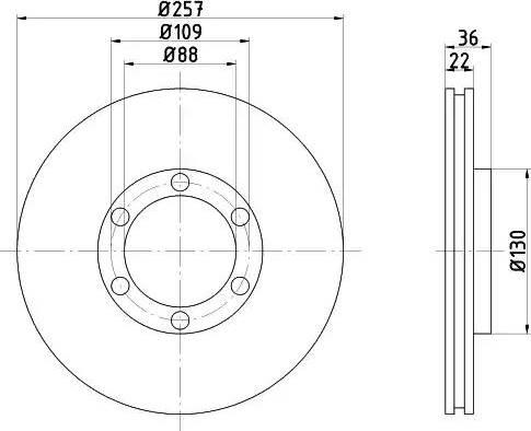 HELLA 8DD 355 104-711 - Bremžu diski interparts.lv