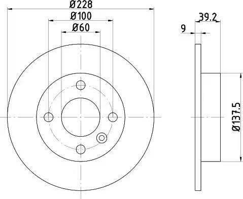 HELLA 8DD 355 105-441 - Bremžu diski interparts.lv