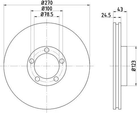 HELLA 8DD 355 105-641 - Bremžu diski interparts.lv